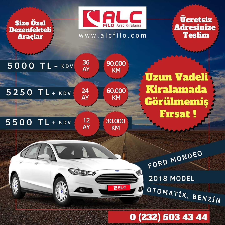 İzmir Aylık Araç Kiralama Kampanyası Ford mondio