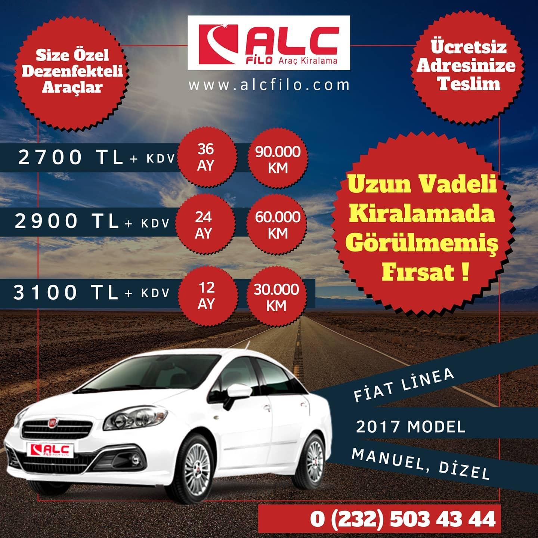 İzmir Aylık Araç Kiralama Kampanyası Fiat Linea