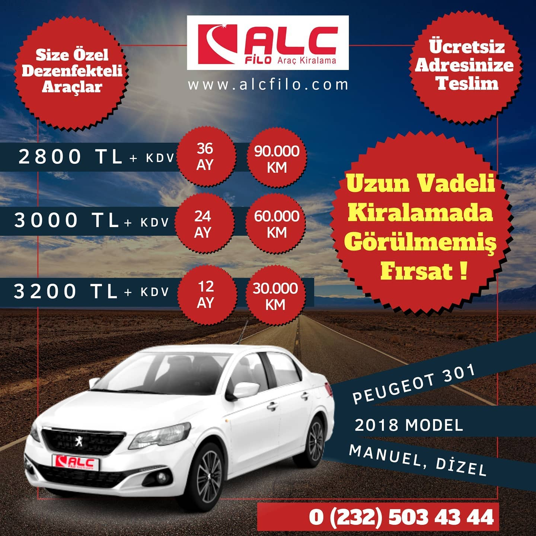 İzmir Aylık Araç Kiralama Kampanyası Peugeot