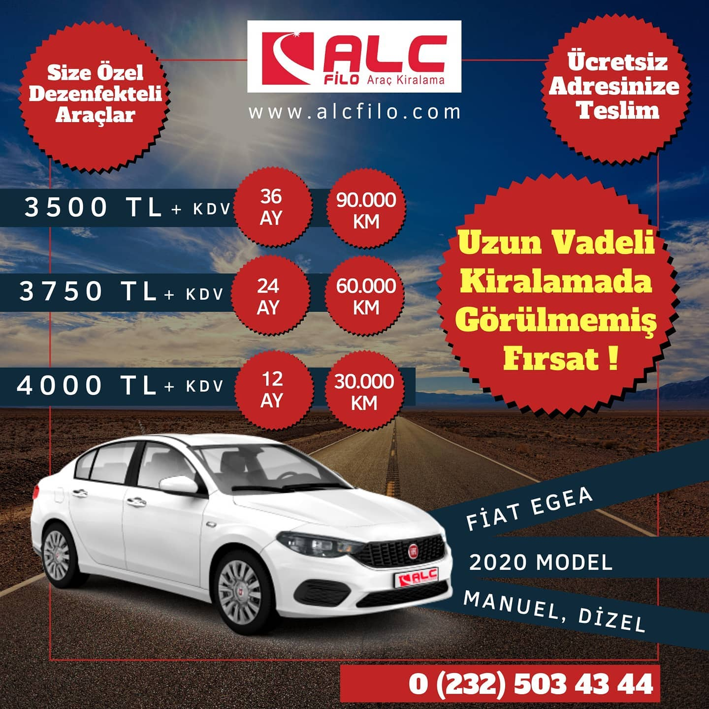 İzmir Aylık Araç Kiralama Kampanyası Fiat Egea