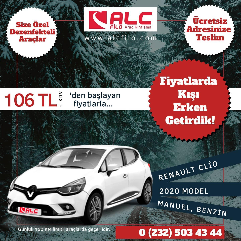 İzmir Ucuz Araç Kiralama renault Clio