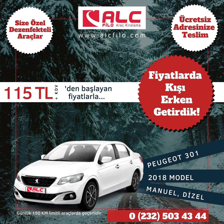 İzmir Ucuz Araç Kiralama Peugeot 301