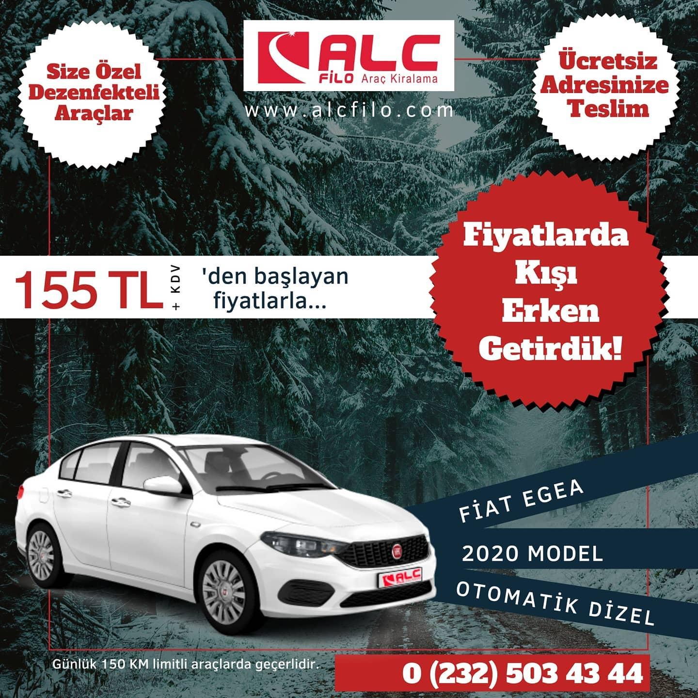 İzmir Ucuz Araç Kiralama Fiat EGEA Otomatik Dizel